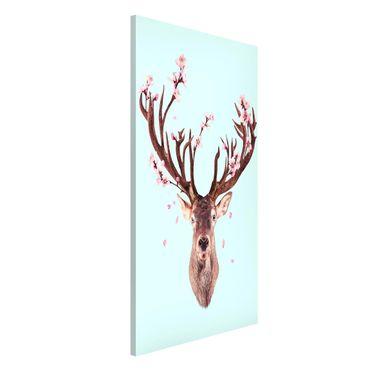 Lavagna magnetica - Cervo con Cherry Blossoms - Formato verticale 4:3
