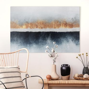 Quadri su tela - Golden Horizon Acquerello