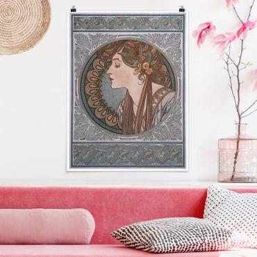 Poster - Alfons Mucha - Helena - Verticale 4:3