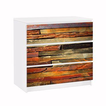 Carta adesiva per mobili IKEA - Malm Cassettiera 3xCassetti - Stack of Planks