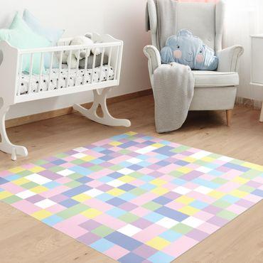 Tappeti in vinile - Mosaico colorato zucchero filato - Quadrato 1:1