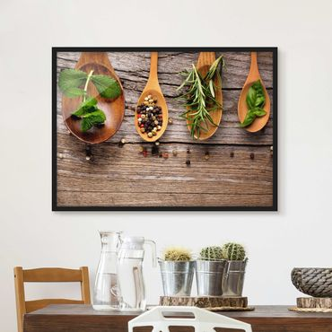 Poster con cornice - Herbs And Spices - Orizzontale 3:4