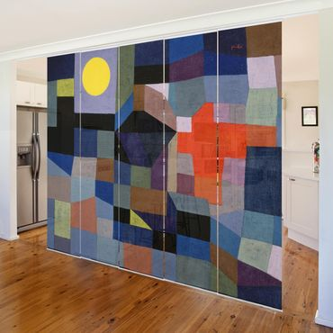 Tende scorrevoli set - Paul Klee - Fire At Full Moon