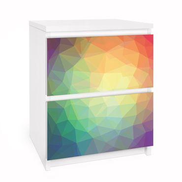 Carta adesiva per mobili IKEA - Malm Cassettiera 2xCassetti - No.RY32 Triangular