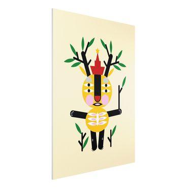 Stampa su Forex - Collage Ethno mostro - Deer - Verticale 4:3