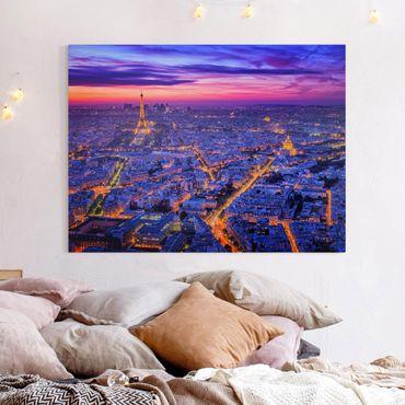 Stampa su tela - Parigi di notte - Orizzontale 4:3