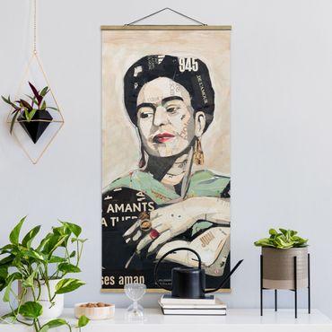 Foto su tessuto da parete con bastone - Frida Kahlo - Collage No.4 - Verticale 2:1