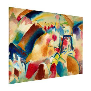 Lavagna magnetica - Wassily Kandinsky - Paesaggio Con Chiesa - Formato orizzontale 3:4