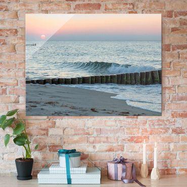Quadro in vetro - Tramonto in mare - Orizzontale 3:4