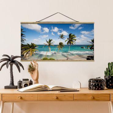 Foto su tessuto da parete con bastone - Spiaggia Di Barbados - Orizzontale 1:2