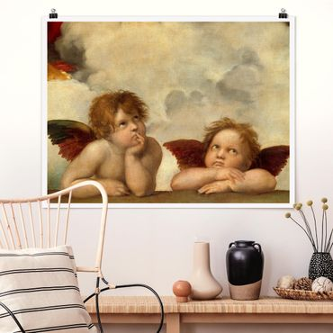 Poster - Raphael - due angeli - Orizzontale 3:4