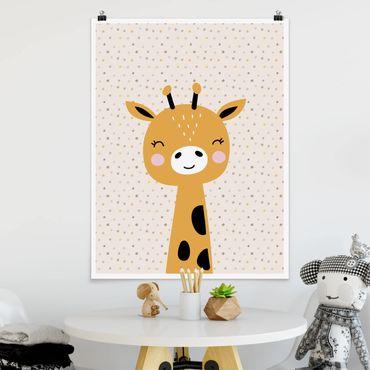 Poster - baby giraffe - Verticale 4:3
