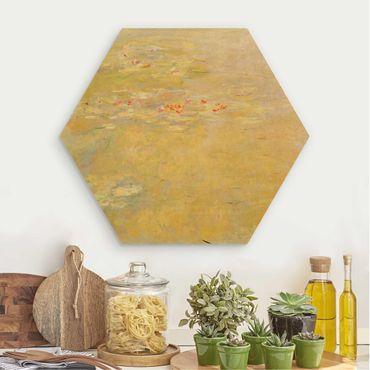 Esagono in legno - Claude Monet - Laghetto delle ninfee