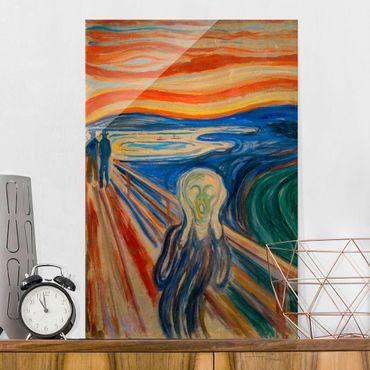 Quadro in vetro - Edvard Munch - L'urlo - Verticale 3:2