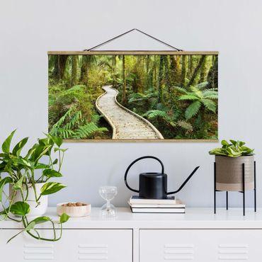 Foto su tessuto da parete con bastone - Percorso In The Jungle - Orizzontale 1:2
