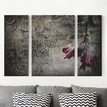 Stampa su tela 3 parti - Mystic Flower - Trittico