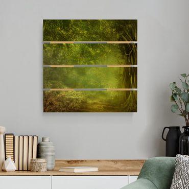 Stampa su legno - Passeggiata nel bosco - Quadrato 1:1