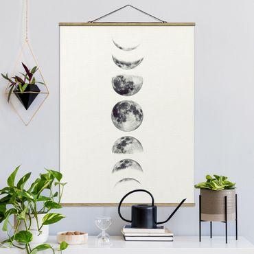 Foto su tessuto da parete con bastone - sette Lune - Verticale 4:3