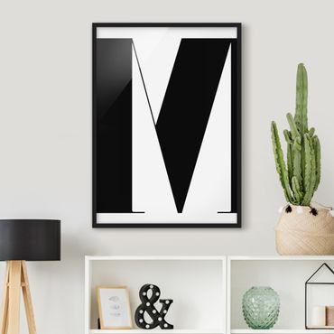 Poster con cornice - Antiqua Letter M - Verticale 4:3