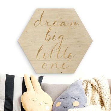 Esagono in legno - Legno muro bianco - grande sogno
