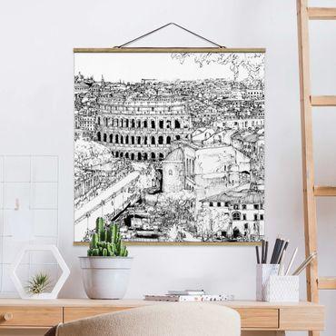 Foto su tessuto da parete con bastone - Città Studi - Roma - Quadrato 1:1