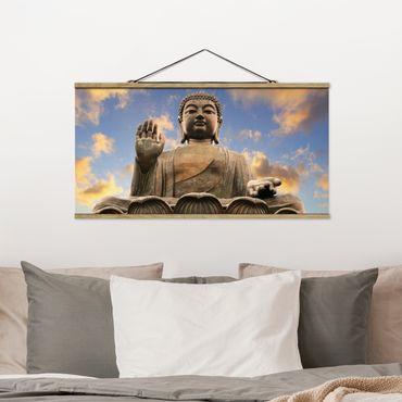 Foto su tessuto da parete con bastone - Big Buddha - Orizzontale 1:2