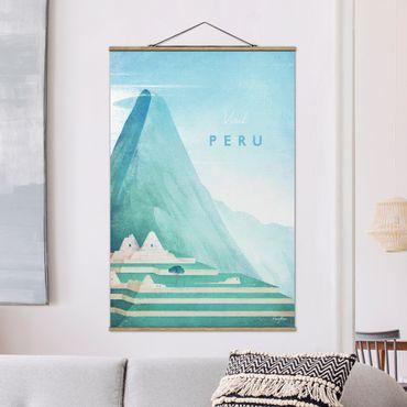 Foto su tessuto da parete con bastone - Poster di viaggio - Perù - Verticale 3:2