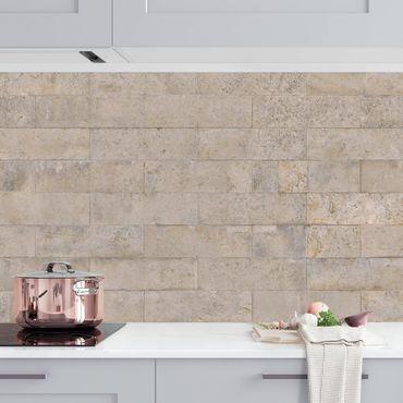 Rivestimento cucina - Parete in mattoni di cemento