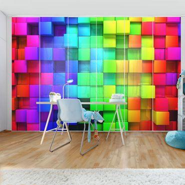 Tende scorrevoli set - 3D Cubes
