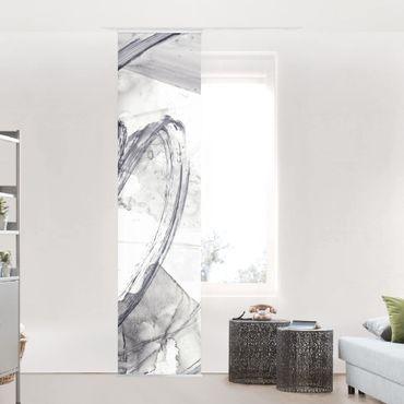 Tenda scorrevole set - Suono bianco e nero I