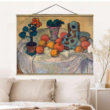 Foto su tessuto da parete con bastone - Paula Modersohn-Becker - Natura morta con arance - Orizzontale 3:4