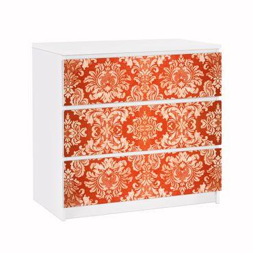 Carta adesiva per mobili IKEA - Malm Cassettiera 3xCassetti - Baroque Wallpaper