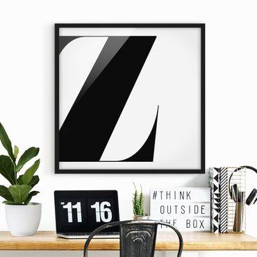 Poster con cornice - Antiqua Letter Z - Quadrato 1:1