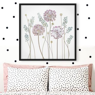 Poster con cornice - Allium Illustration - Quadrato 1:1