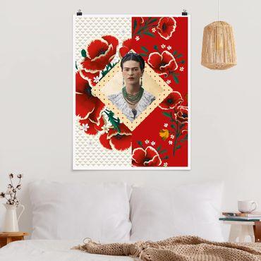 Poster - Frida Kahlo - Papaveri - Verticale 4:3