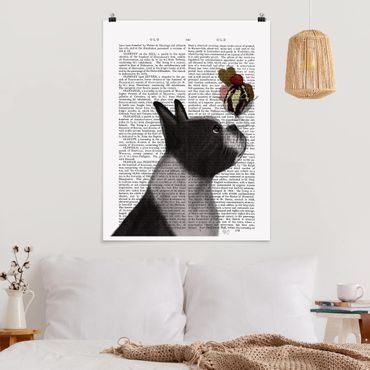 Poster - Reading Animal - Terrier Con Ghiaccio - Verticale 4:3