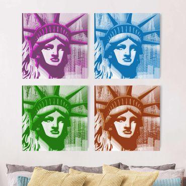 Stampa su tela 4 parti - No.YK13 Statue of Liberty