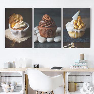 Stampa su tela 3 parti - juicy Cupcakes - Verticale 3:2