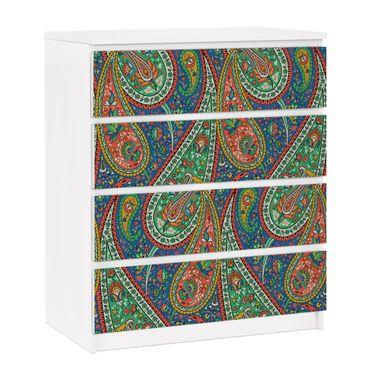 Carta adesiva per mobili IKEA - Malm Cassettiera 4xCassetti - Filigree Paisley Design