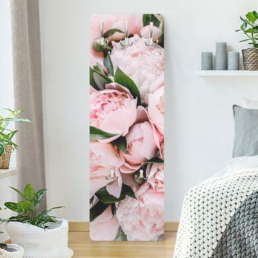 Appendiabiti - Rosa peonia con foglie