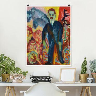 Poster - Ernst Ludwig Kirchner - Gli infermieri - Verticale 4:3