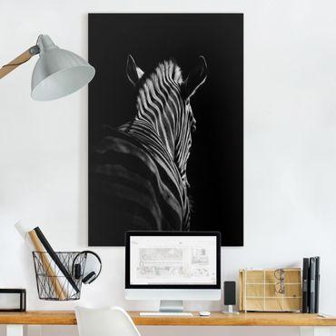 Stampa su tela - Scuro silhouette zebra - Verticale 2:3