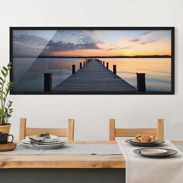Poster con cornice - Luogo Di Riposo - Panorama formato orizzontale