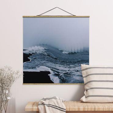 Foto su tessuto da parete con bastone - Geometria Meets onda - Quadrato 1:1