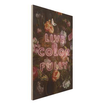 Stampa su legno - live Colorfully - Verticale 3:2