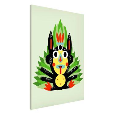 Lavagna magnetica - Collage Ethno mostro - Jungle - Formato verticale 2:3