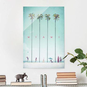 Quadro in vetro - Poster viaggio - Miami - Verticale 3:2