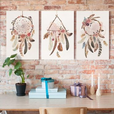 Stampa su tela - Watercolor Dream Catcher With Feathers - Verticale 3:2