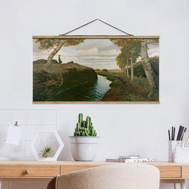 Quadro su tessuto con stecche per poster - Otto Modersohn - Moorland - Orizzontale 1:2