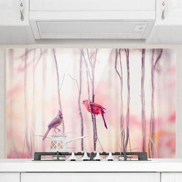 Paraschizzi in vetro - Birds on branches